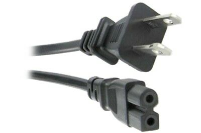 6ft 2 Prong Figure 8 Polarized AC Power Cord For Sony Samsung Tv Printer Laptop