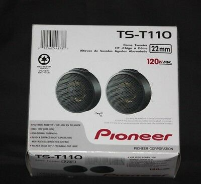 "Pioneer TST110 7/8"" Hard Dome Tweeters Surface Flush mounting Brand New Low $$"
