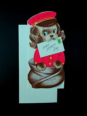 #J387- Unused Marjorie M. Cooper Mother's Day Greeting Card Mailman Doggy