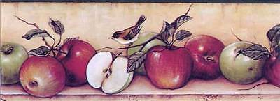 DC2111B Apples Fruit Country Kitchen Wallpaper Border