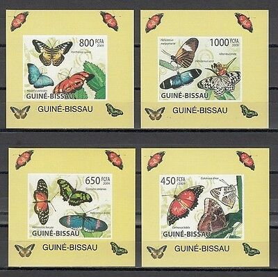 ^ Guinea Bissau, Michel cat. 4504-4507. Butterfly values on 4 s/sheets.