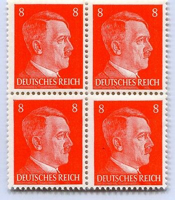 German Wwii Hitler Head Stamp Of 4 Stamps 8 Rpf Value (P-35-4)