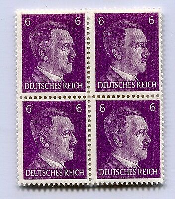 German Wwii Hitler Head Stamp Of 4 Stamps 6 Rpf Value (P-30-4)