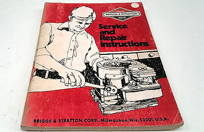 1976 BRIGGS & STRATTON  Factory Workshop Manual All Models