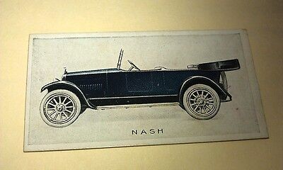 1923 NASH  Orig Wills Cigarette Card New Zealand