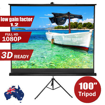 """100"""" Projector Screen Tripod TV HD Conference Presentation Projection 4:3"""