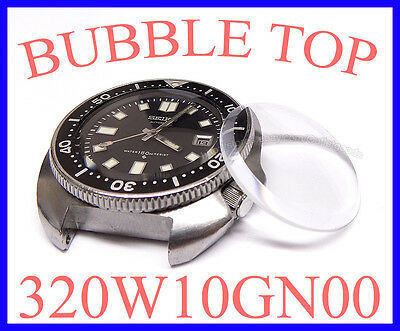 Watch Crystal 320W10GN Bubble for Seiko 6105-8000 6105-8009 6105-8110 6105-8119