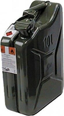 Canister Fuel canister Metal Olive green 10l Jerry can Petrol New