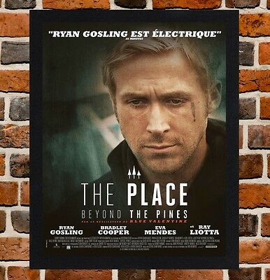 Framed The Place Beyond The Pines French Movie Poster A4 / A3 Size Black Frame