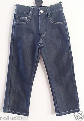Unworn George Boys Girls Blue Denim Jeans Adjustable Waist Age 4-5 Custom Cut