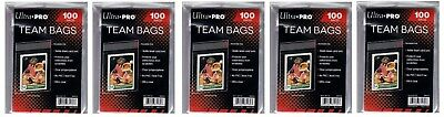 Ultra Pro Resealable Team Bag 100 count 5 pkg lot ( 500 Bags )