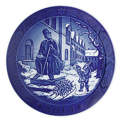 NEW IN BOX! 2014 Royal Copenhagen Christmas Plate Factory First Quality DENMARK