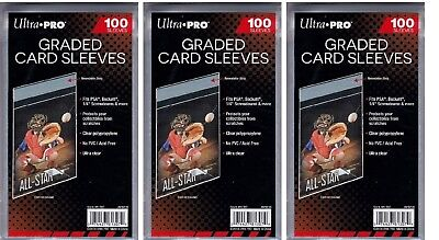 Ultra Pro Resealable Graded Card Sleeves 300 count lot Brand New