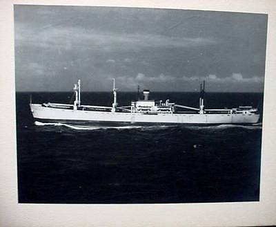 Vintage Black and White Photo Steamship Kent Bounty Underway Mounted