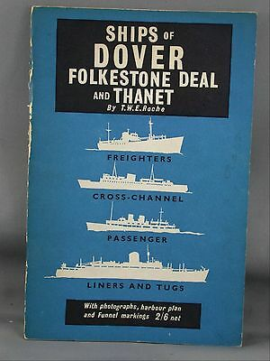 1959 Ships of Dover Folkestone Deal & Thanet Booklet With Photos & Funnel Flags