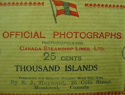 Canadian Steamship Lines Official Photographs Thousand Islands