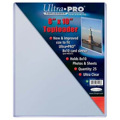 75 Ultra Pro 8 x 10 Hard Plastic Rigid Topload Photo Holders 8x10 toploaders