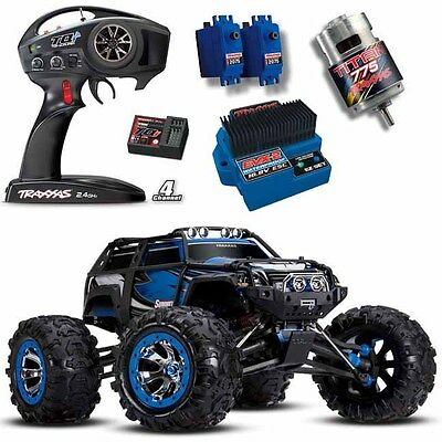 Traxxas 56076-4 1/10 4WD Summit 4WD Monster Truck BLUE w/ TQi Radio / EVX-2