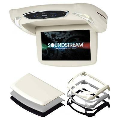 """Soundstream Vcm-9Dx Overgead Drop Down 9"""" Lcd Monitor Built-In Dvd Player Sd Usb"""