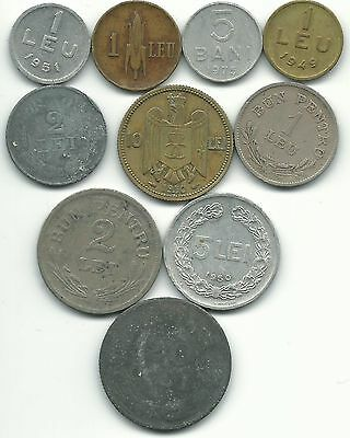Romania Lot Of 10 Coins