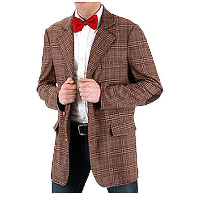 *NEW* Dr Who -11th Doctor Dress Up Tweed Jacket - Adult Costume - Large / XL