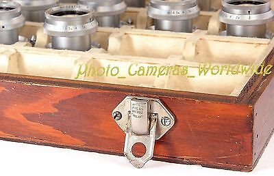 RARE!! Reid & Sigrist Factory Carrying Case for TAYLOR-HOBSON Anastigmat Lenses