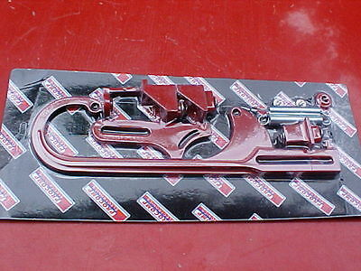 throttle cable / morse cable bracket,adjustable,holley,race,NHRA,rat rod,red