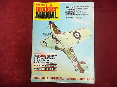 Vintage collectible American Modeler Annual Magazine 1964 home read book hobby