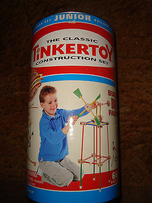 2000 TINKER TOY Junior Builder 66 PIece Set Storage Cannister Container ONLY!