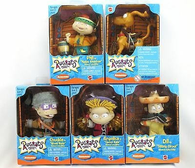 Rare 1999 Rugrats 5 Piece Lot Western Collectibles Mattel Nickelodeon New Mint