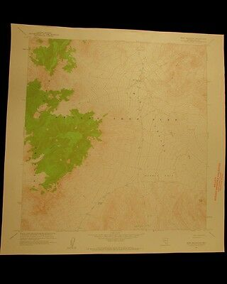 Mine Mountain Nevada vintage 1962 original USGS Topographical chart