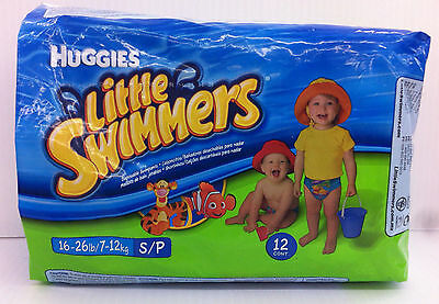 Huggies NEMO Little Swimmers Disposable Swim Diapers Small 16-26 lbs 12-Counts