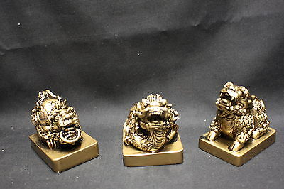 NEW Three Protectors are the Ki-lin, Dragon and Pi Yao 46mm (AN129BS)