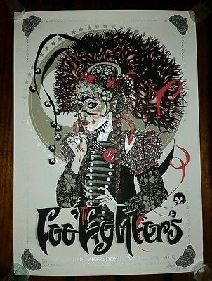 FOO FIGHTERS 2015 Amsterdam Show Poster Print Artist Signed Numbered Europe Tour