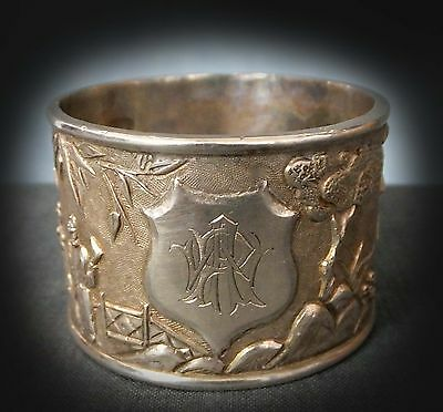 Fine Quality Cast & Chaste Chinese Silver Napkin Ring