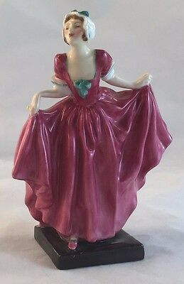 "Royal Doulton Bone China Lady Figurine RN814285 ""Delight"" Pink Dress"