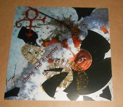 Prince Chaos and Disorder Poster 2-Sided Flat Square 1996 Promo 12x12