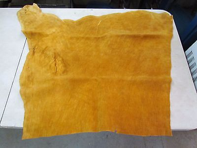 "Native American Dark Home Smoke Tanned Moose Hide Soft 28"" In By 32"" In"