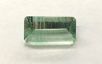 16.64 CT FLOURITE LOOSE GEMSTONE CONVAVE CUT 23x12 FLA