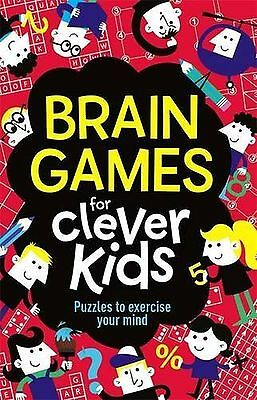 Brain Games For Clever Kids Children's Puzzle Book New Free Post