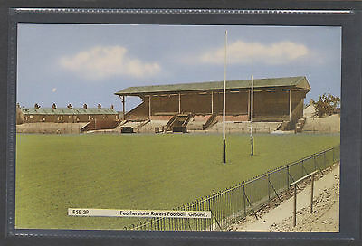Featherstone Rovers Football Ground.old  Printed Postcard.