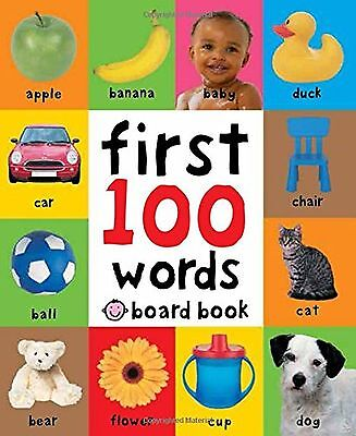 First 100 One Hundred Words Soft to Touch Board Book For Baby New