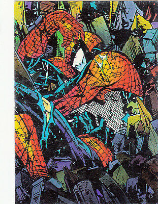 Spider-Man The Mcfarlane Era Comic Images 1992 Base Card #18 Trashed
