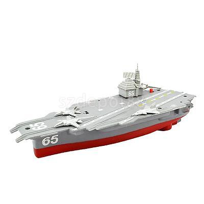 Electric Mini Aircraft Carrier Children Educational Toy Military Ship Model