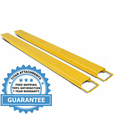 """Titan Attachments Pallet Fork Extensions for Forklifts and Loaders, Steel, 84"""""""
