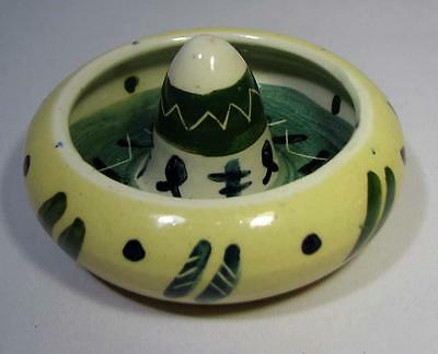 Vintage MEXICAN HAT Trinket Dish - Hand Painted