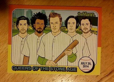 Queens Of The Stone Age 2014 Tour Mann Music Center Philadelphia Trading Card