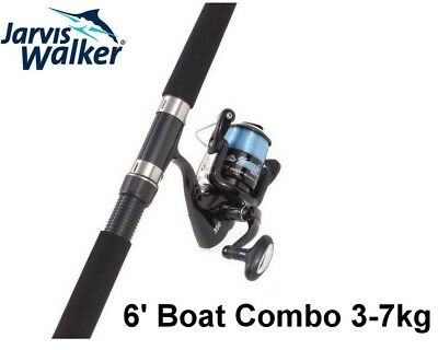 Jarvis Walker 6ft National 3-7kg 2pce Fishing Rod and Reel Spin Combo with Line