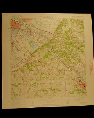 French Village Illinois vintage 1959 original USGS Topographical chart