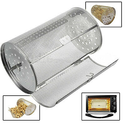 New Stainless Capacity Coffee Beans Peanut BBQ Rotisserie Roaster Drum Oven Y